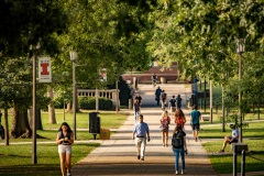 A new year begins on the campus of the University of Illinois Urbana-Champaign as students head to the first classes of the day for the fall semester.